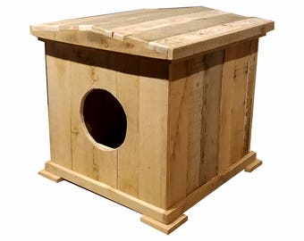 Solid Wood Cat House