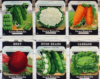 Vintage Heirloom Seed Packets
