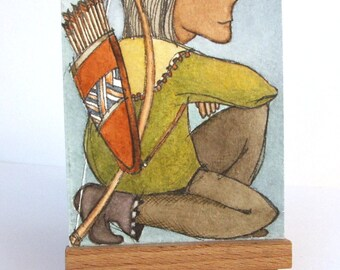 """The Archer - """"Discarded Tales"""" ACEO series, #16"""