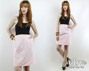 Plus Size Skirt Plus Size Vintage High Waisted Skirt Pink Skirt High Waist Skirt Skater Skirt Vintage 80s High Waisted Pink Mini Skirt 1X 2X