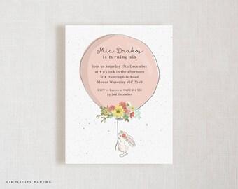 Custom Invitations | Bunny | Birthday | Baby Shower | Bridal Shower