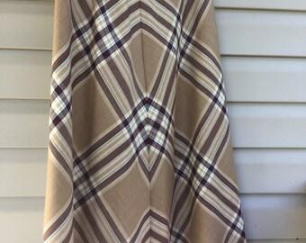 Skirt, Swing skirt, Ladies Wool/Poly, Charter Club Vintage Skirt, Size 14