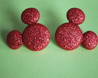 Mickey Mouse Earrings -- Mickey Mouse, Minnie Mouse, Red Mouse Ears