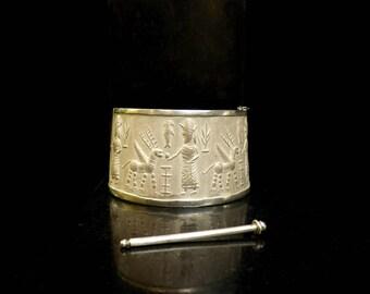 Mesopotamia Silver Bracelet