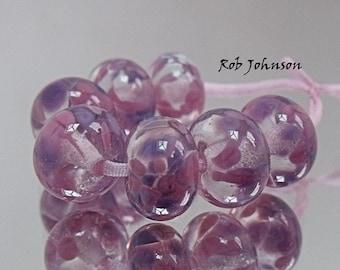 Rose Dreamer, Artisan Lampwork Glass Beads, SRA, UK