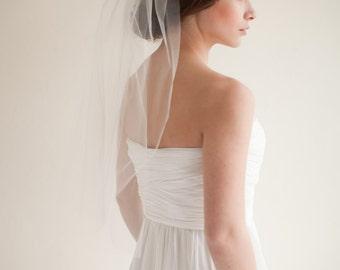 Wedding Veil, Elbow Length Bridal Veil, Tulle Veil, 28 inches- Hannah - Style 7513