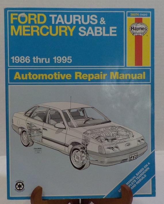 ford taurus mercury sable 1986 1995 repair manual haynes rh etsy com 1995 ford taurus sho manual transmission for sale 1995 ford taurus sho manual transmission for sale