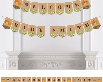 Pumpkin Patch - Bunting Banner - Personalized Fall or Thanksgiving Baby Shower or Birthday Party Bunting Banner & Decorations - Party Décor