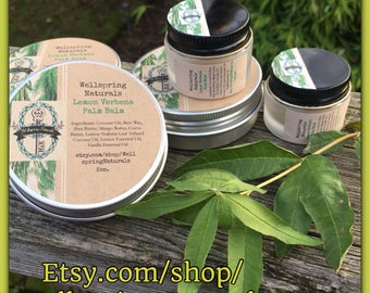 Hand Balm - Lemon Verbena Palm Balm - Great Gift - Hand Made For Hands