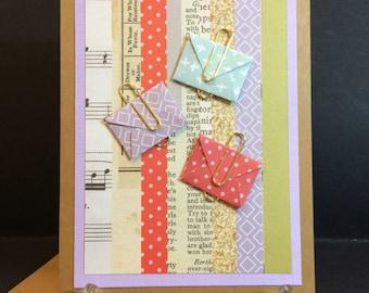 Handmade Birthday/Love/Graduation/Thinking of You/Thank You Blank Card