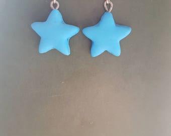 Light blue stars earrings
