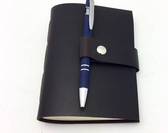 Wine Journal in Black Leather