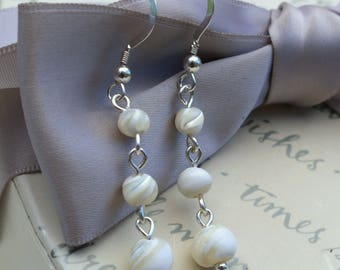 Beach Wedding Earrings and necklace set Mother of Pearl with Starfish necklace
