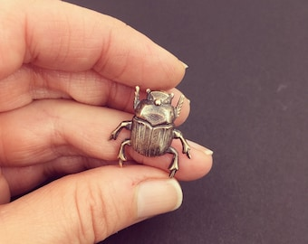 Scarab Pin, Insect Pin, Bug Pin, Insect Jewelry, Scarab Jewelry, Scarab Beetle, Scarab Beetle Brooch, Dung Beetle Jewelry, Scarab Brooch