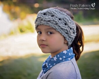 Crochet Pattern - Crochet Headband Pattern - Cable Headband - Crochet Ear Warmer Pattern - Includes Toddler, Child, Adult Sizes - PDF 425