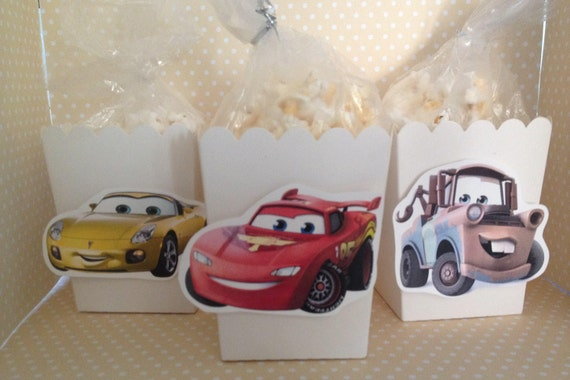 Disney Cars 3 Party Popcorn or Favor Boxes Set of 10