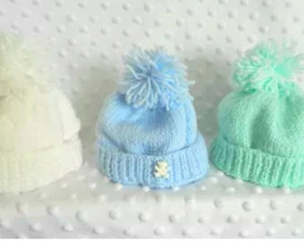 Hand knitted Baby's bobble hat