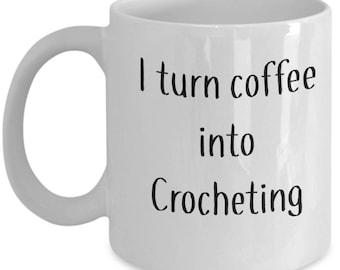 Crochet Coffee Mug    Gift for Her