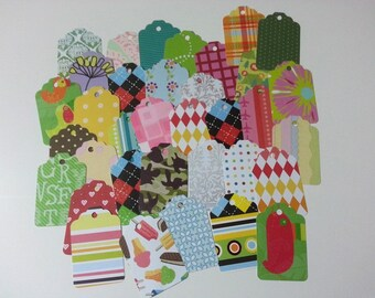 Gift Tags Party Mix, Cardstock Tags, Pretty Gift Tags, Label Tags, Random Tags, 50 Pieces Different Tags, Fun Tags, Variety Tags, Assortment