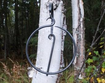 Dinner Bell/Hand Forged Dinner Bell/ Circle Bell/Handmade/Gift/Blacksmith Art/Metal Art