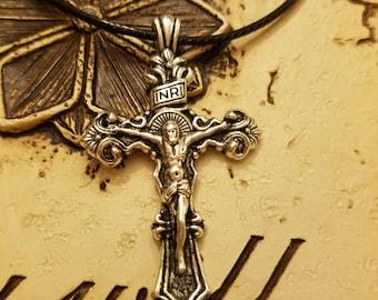 Crucifix Cross Necklace,  Jesus Pendant