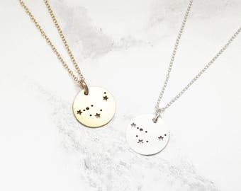 Constellation Necklace • Star Sign Necklace • Zodiac Necklace • Zodiac Jewellery • Sterling Silver Star Sign Charm