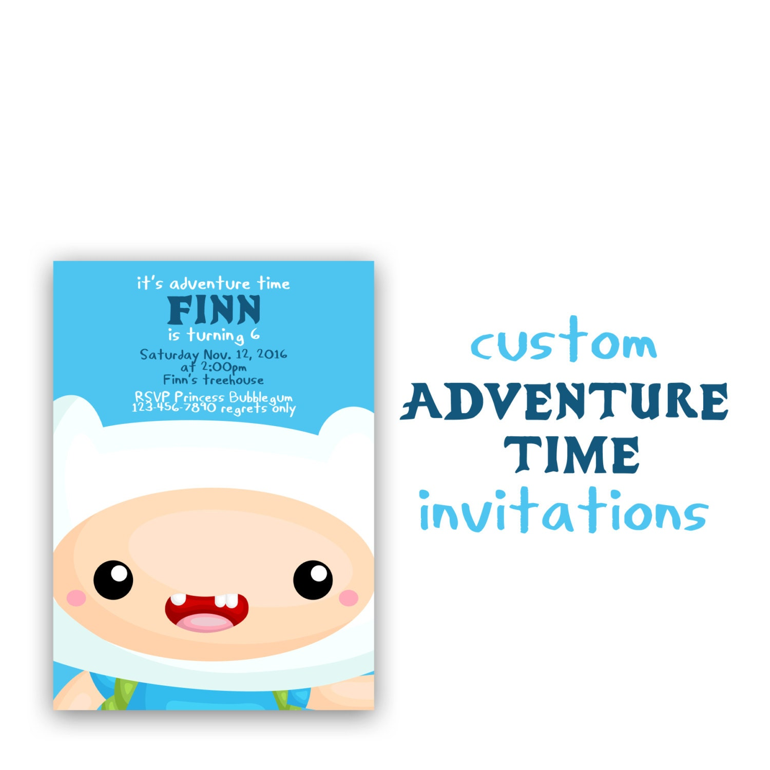 Magnificent Adventure Time Birthday Invitations Ensign Invitation
