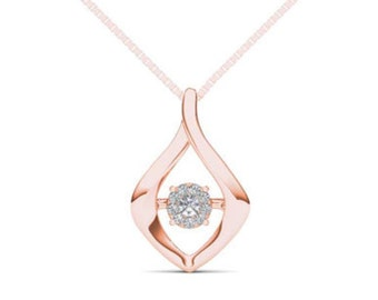10Kt Rose Gold Diamond in Motion Pendant