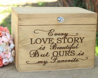 Rustic Wood Card Box Wedding Bridal Shower Engagement Party Decor