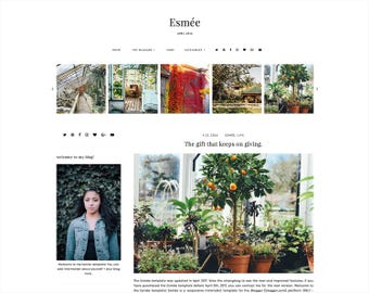 Esmée | Responsive Blogger Template + Free Installation