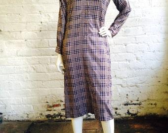 Vintage Houndstooth Dress // Size 8