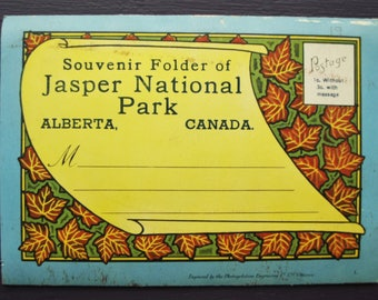 Souvenir Folder of Jasper National Park Alberta, Canada Foldout Postcards