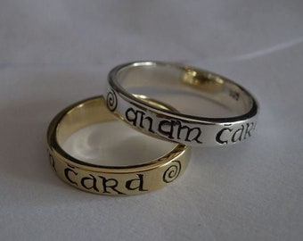 Celtic ring Anam Dear rings Silver jewelry ogham marriage Engagement Friendship Pagan