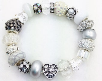 Daughter European style Charm Bracelet