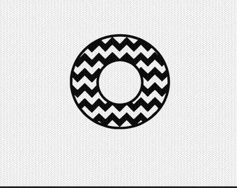 chevron circle monogram frame svg dxf file stencil silhouette cameo cricut clip art commercial use