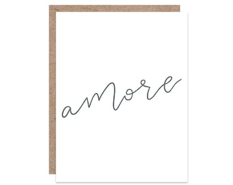 Hand Lettered Greeting Card | Handmade Greeting Cards | Romantic Card | Valentine's Day Card | Card for Boyfriend | Card for Girlfriend