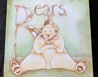 Circus Nursery, Nursery Painting, Polar Bear Art, Circus Bear, Bear Art, Animal Wall Art, Girl Nursery Art, Circus Animals, Baby Boy Nursery