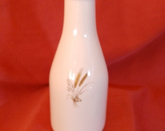 VINTAGE milk bottle ceramic with image of wheat, Mid century Ceramic milk bottle whit picture of wheat