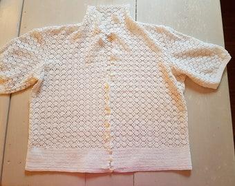 Crochet Top hand made - 100% cotton - Medium size