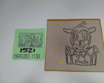 """1980's Original Gary Panter Production Sketch for """"Pee-Wee's Playhouse"""