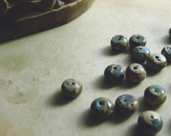 Aqua Terra Jasper | Sea Sediment Jasper | Variscite | Impression Stone | 8mm Rondelle Gemstone Beads | 80 pieces | 16-inch full strand