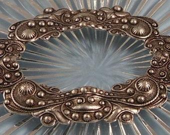 LuxeOrnaments Antique Silver Filigree Wreath Focal (Qty 1) F-2875-B