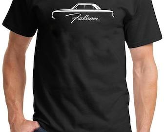 1960-63 Ford Falcon Classic Outline Design Tshirt