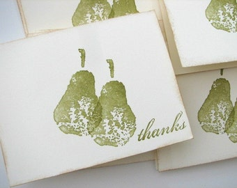 Perfect Pear Thank you cards set of 10