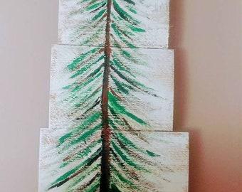 Evergreen Tree on Wood