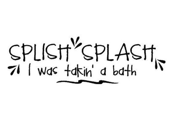 splish splash wall decal by aluckyhorseshoe