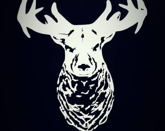 Deer car window vinyl decal, deer vinyl decal, deer decal, vinyl decal, deer, hunting