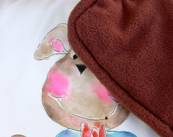 Hand Painted Berni Bear Luxury Baby Blanket