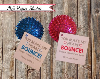 You Make My Heart BOUNCE! Valentine's Day Cards