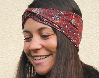 Tribal headband, Aztec Headband, Boho headband, Hippie Headband, Yoga headband, Twist headband, Ethnic headband, Tribal turban, Knot band